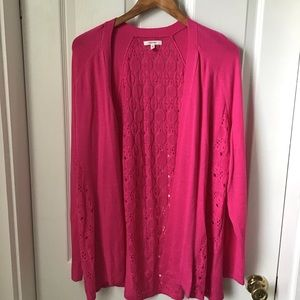 Maurices open front cardigan Pink plus size 0